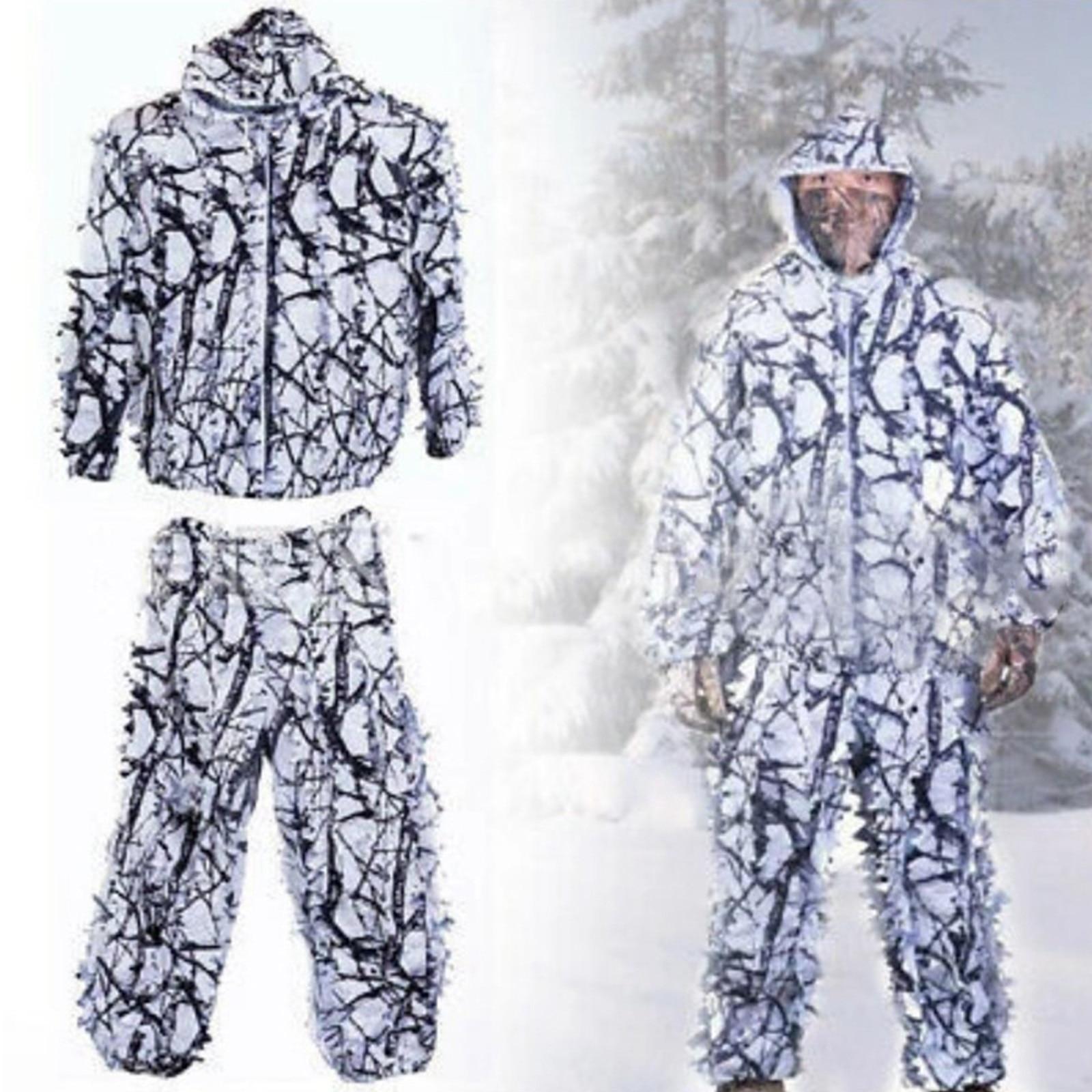 Ternos duráveis de ghillie, 3d frondoso neve selvagem ghille terno para adultos