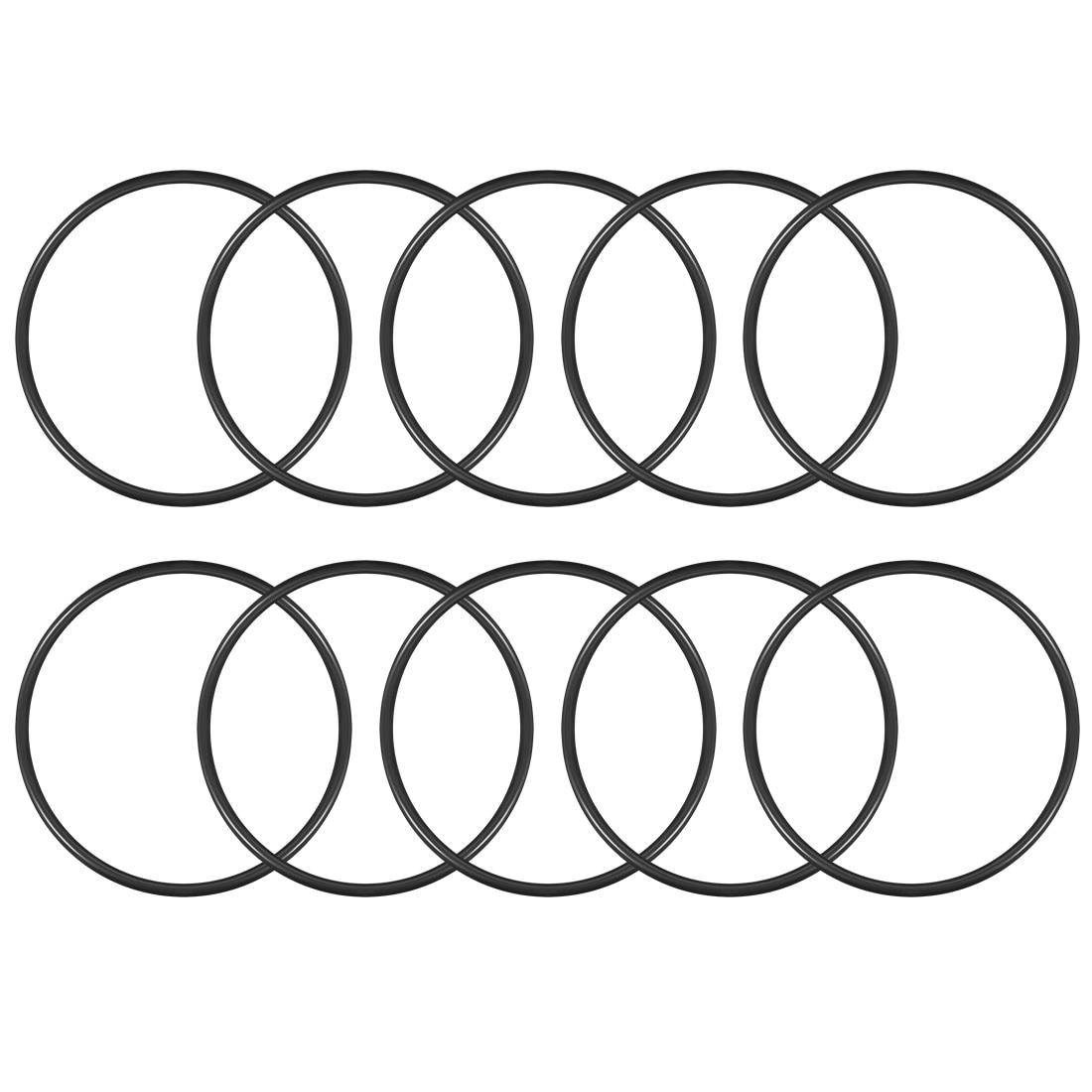 Uxcell O-Anéis de Borracha Nitrílica 110 milímetros x 120 milímetros x 5 milímetros Anéis de Vedação da Junta de Vedação 10pcs
