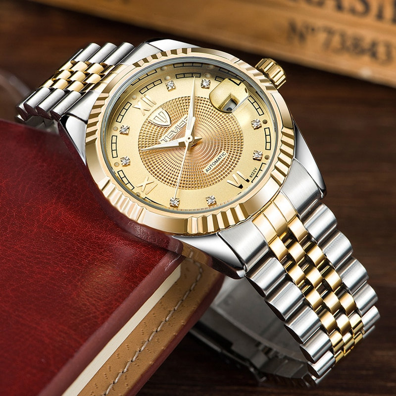 Top Brand Business Luminous Calendar Watch Men Luxury Watch Automatic Mechanical Watch Relogio Mascu