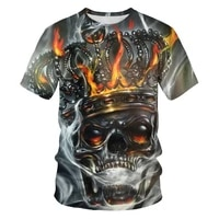 skull shirt mens t shirt 3d printed poker graphics ace of spades streetwear chinese clothing wholesale full size 100 6xl