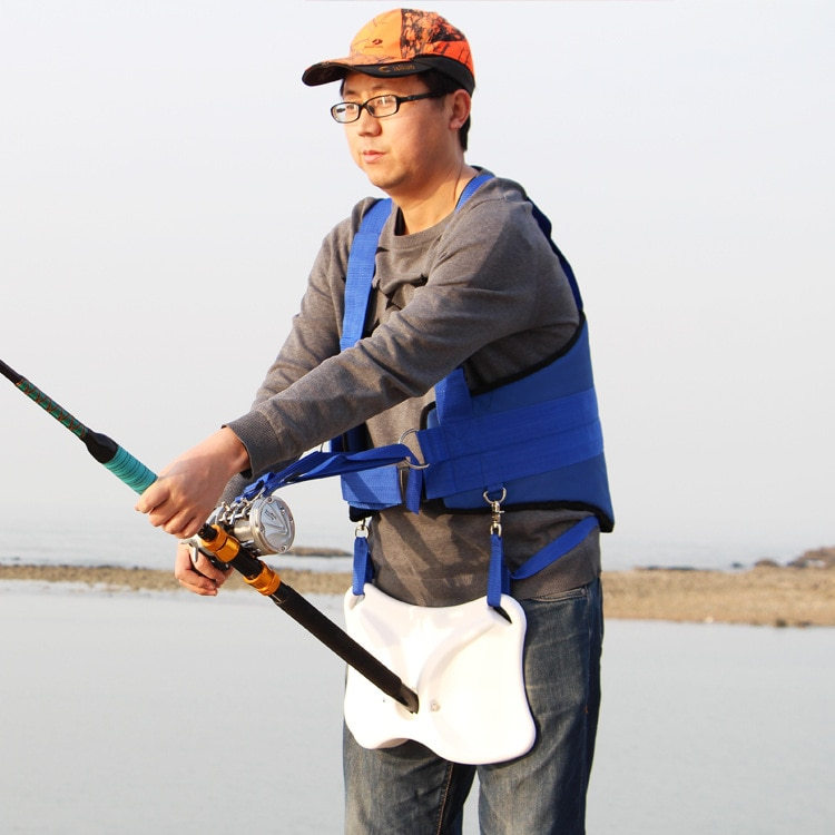 Fishing vest Adjustable Waist Belt Fishing Supplies Fishing Rod Belly Support Holder For Boat Sea Fishing Accessories enlarge
