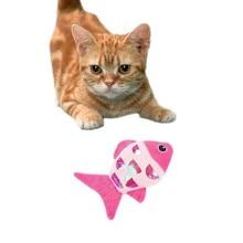 Jouet poisson en peluche forme de chat   Animal de compagnie, bague menthe, en papier, peluche Type de poisson mignon, chien chat, chien, drôle, mâcher, Molar, jouets chat attrayants B #