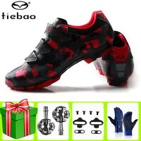 tiebao cycling shoes men sapatilha ciclismo mtb add spd pedal set self locking bicycle riding mountain bike superstar sneakers