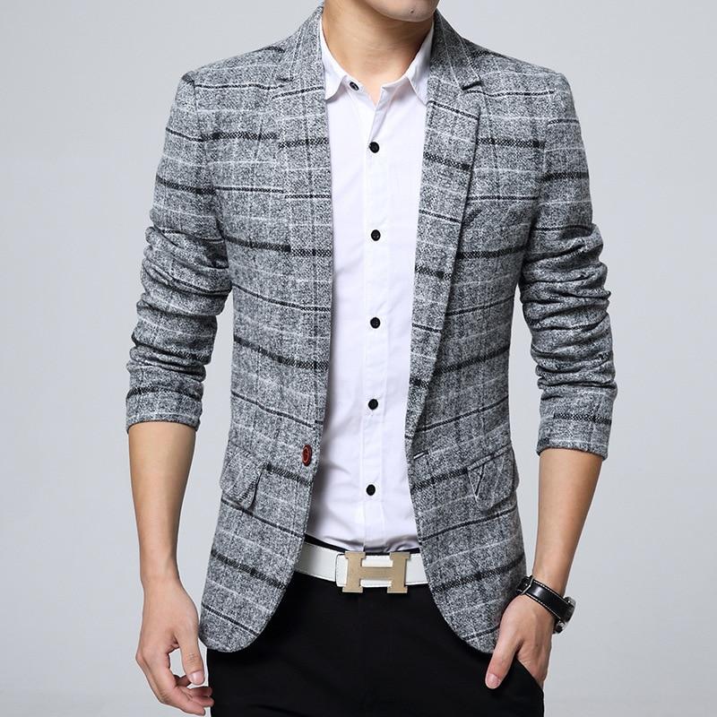 Men's casual suit jacket Korean version slim suit Dropshipping hot sale top coat business long sleev