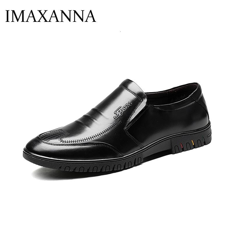 IMAXANNA 2019 جديد الخريف الرجال عارضة أحذية من الجلد جلد طبيعي الذكور المتسكعون الفاخرة العلامة التجارية لينة أسفل مريحة أحذية رجالي