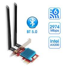 Adaptateur WIFI Intel ax200 5 GHZ adaptateur wi-fi ax200ngw antenne Wifi 6 WIFI Dongle 5 GHZ carte réseau Bluetooth Pci Express pour PC