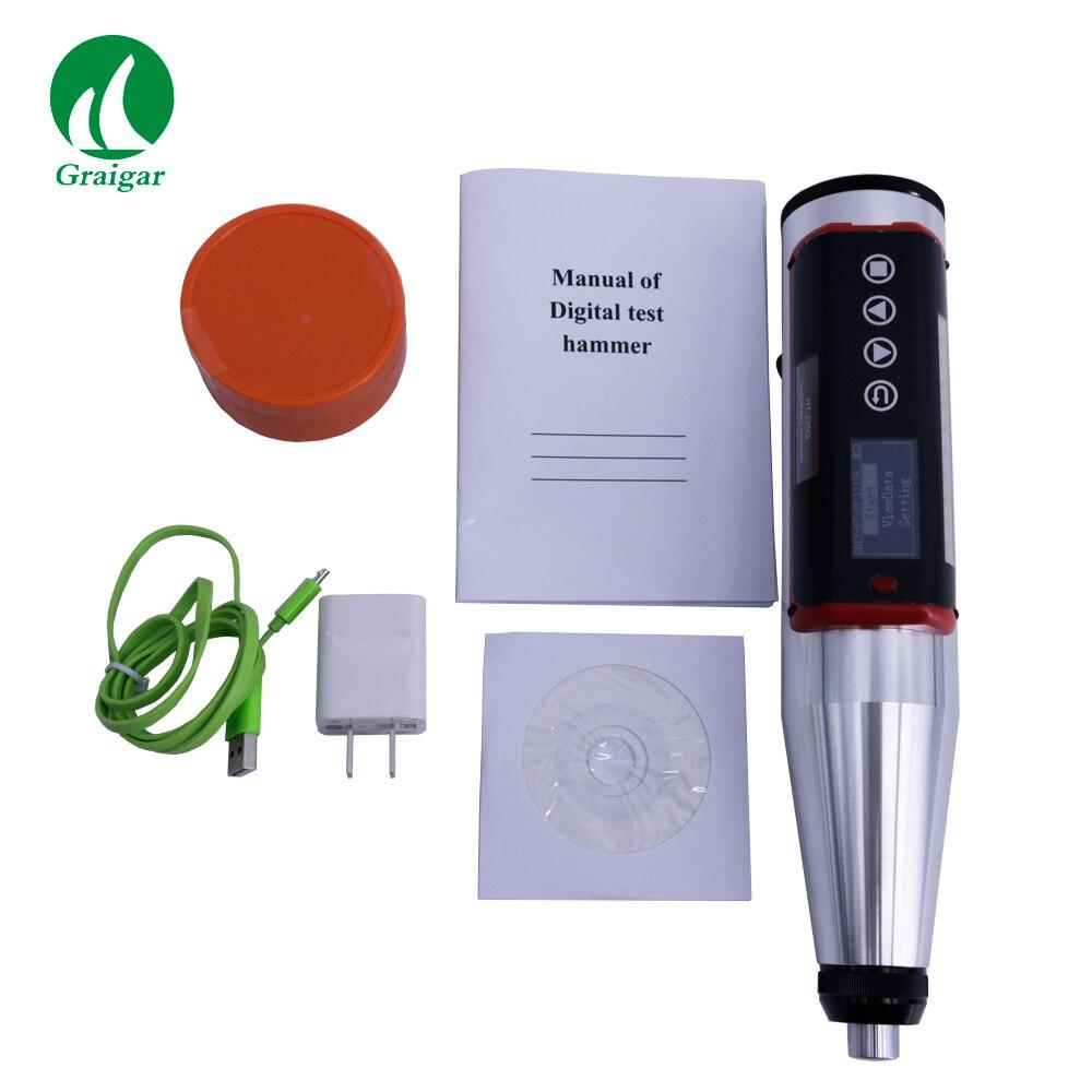 Martillo de prueba de rebote de hormigón Digital de alta precisión HT-225Q con rango de medición de interfaz USB 10-70MPa