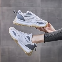 2021 autumn new korean style student leisure elevated sports shoes womens fashion running fathers shoes womens net red shoes