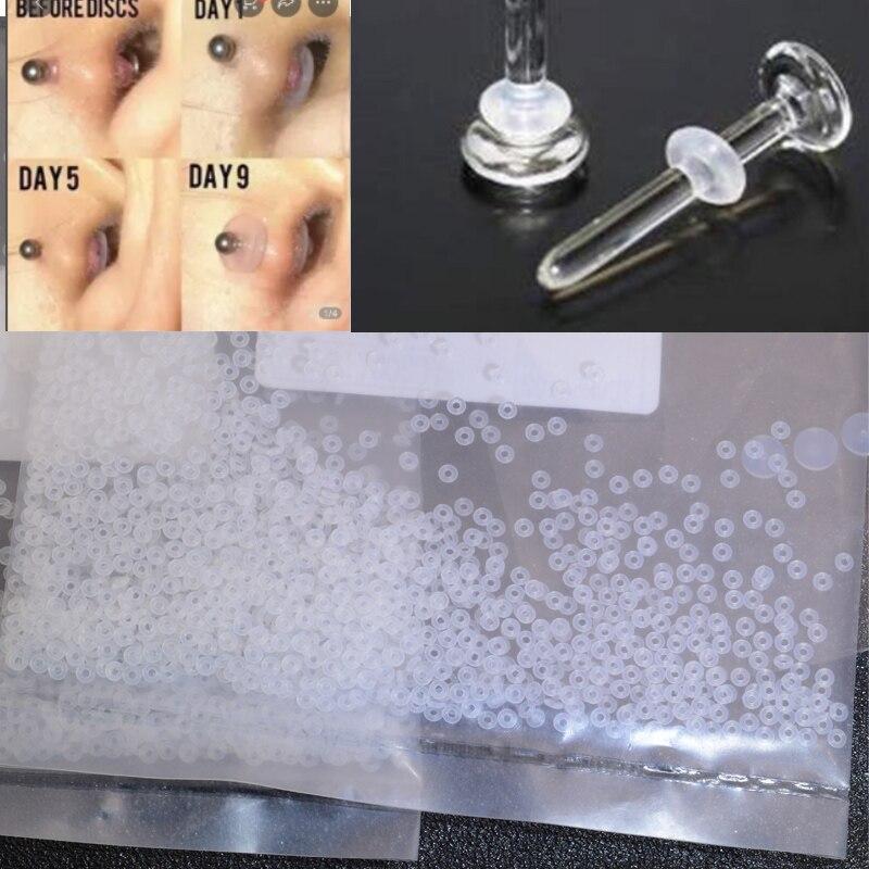 100 pçs transparente orelha parafuso prisioneiro de volta silicone macio anti-dor almofada anti-dor para brincos acessórios diy jóias descobertas