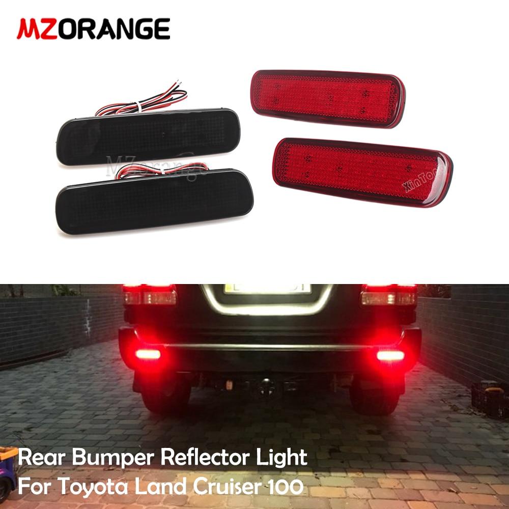 MZORANGE Car LED Rear Bumper Reflector Light For Toyota Land Cruiser 100/Cygnus LX470 LED Warning light Brake Lamp Tail Lantern