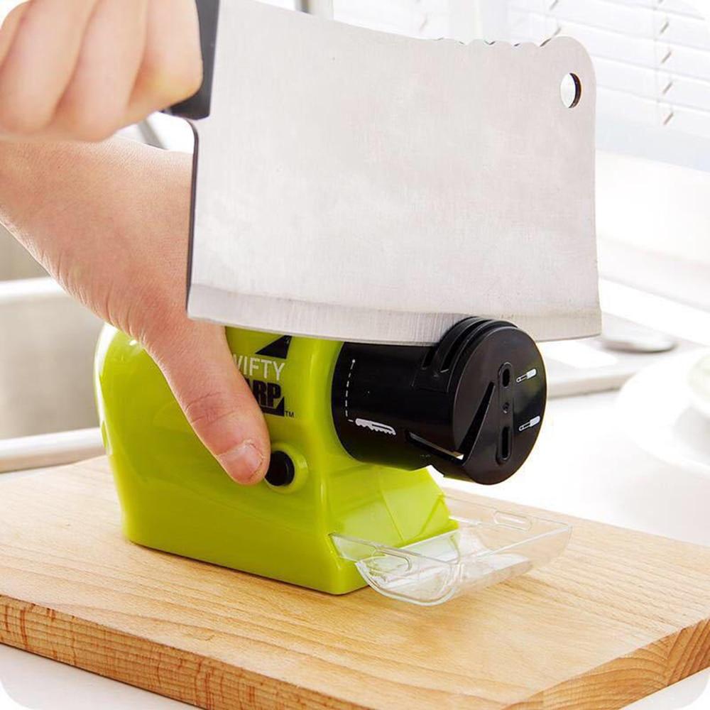 Multifunction Electric Knife Sharpener Motorized Kitchen Knife Grinder Sharpening Stone Automatic Knife Ginder Accessories недорого