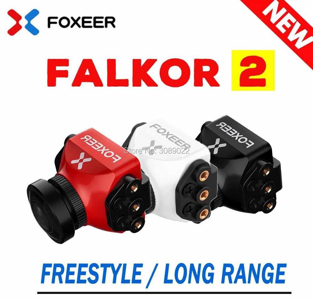 Foxeer Falkor V2 1200TVL мини/полноразмерная камера 16:9/4:3 PAL/NTSC переключаемая гвд с кронштейном FPV камера с фиксатором крыльев