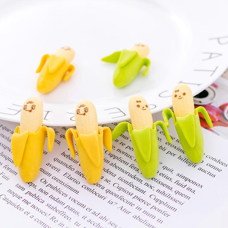 72 шт. симпатичный банановый фруктовый стиль резиновый ластик для карандаша