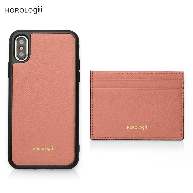 Horologii مخصص اسم الحرة الوردي قضية الهاتف آيفون X XS XR 11 12 13 برو ماكس مع حامل بطاقة دروبشيب