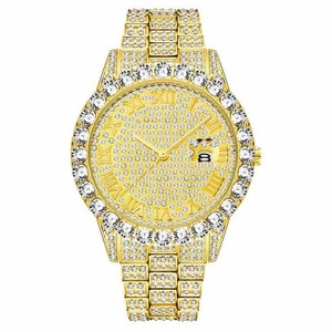 WA01    Big circle zirconium quartz watch waterproof Unisex Watch