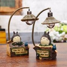 Kawaii dessin animé Totoro lampe lumière Totoro figurine jouets lampe de Table Led veilleuse lecture pour enfants cadeaux danniversaire décor à la maison