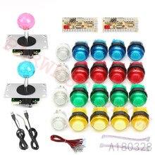 Null Verzögerung Arcade schrank DIY kit für 5V led push button + Kristall Balltop Sanwa typ 5pin Joystick + USB Control Board zu PC/Raspberry Pi