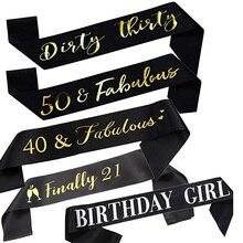 Finalmente 21 sucio 30 40 50 y Feliz cumpleaños chica faja feliz 21 30 40 50 fiesta decoración favor foto prop regalo
