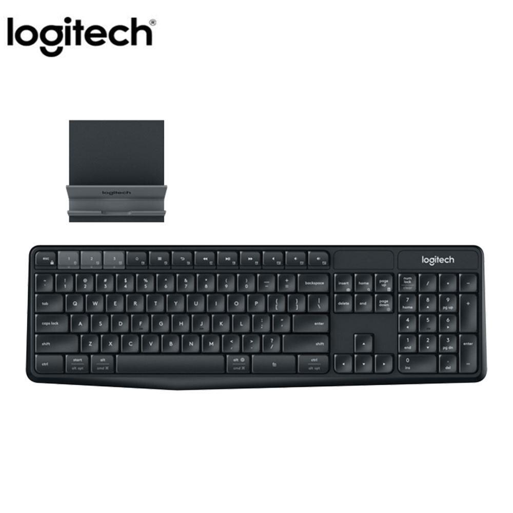لوجيتك K375S لوحة المفاتيح 104 مفاتيح 2.4GHz USB اللاسلكية المزدوج وضع لوحة المفاتيح المحمولة لوحات المفاتيح لأجهزة الكمبيوتر المحمول الكمبيوتر الم...