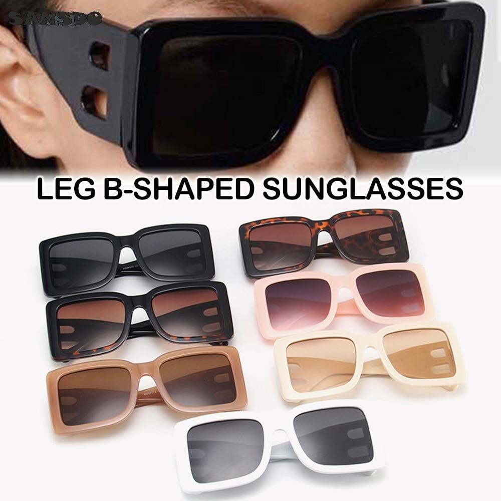 2021 Brand Square Sunglasses Woman Oversized Black Style Shades For Women Big Frame Fashion Sunglasses Female UV400 Glasses