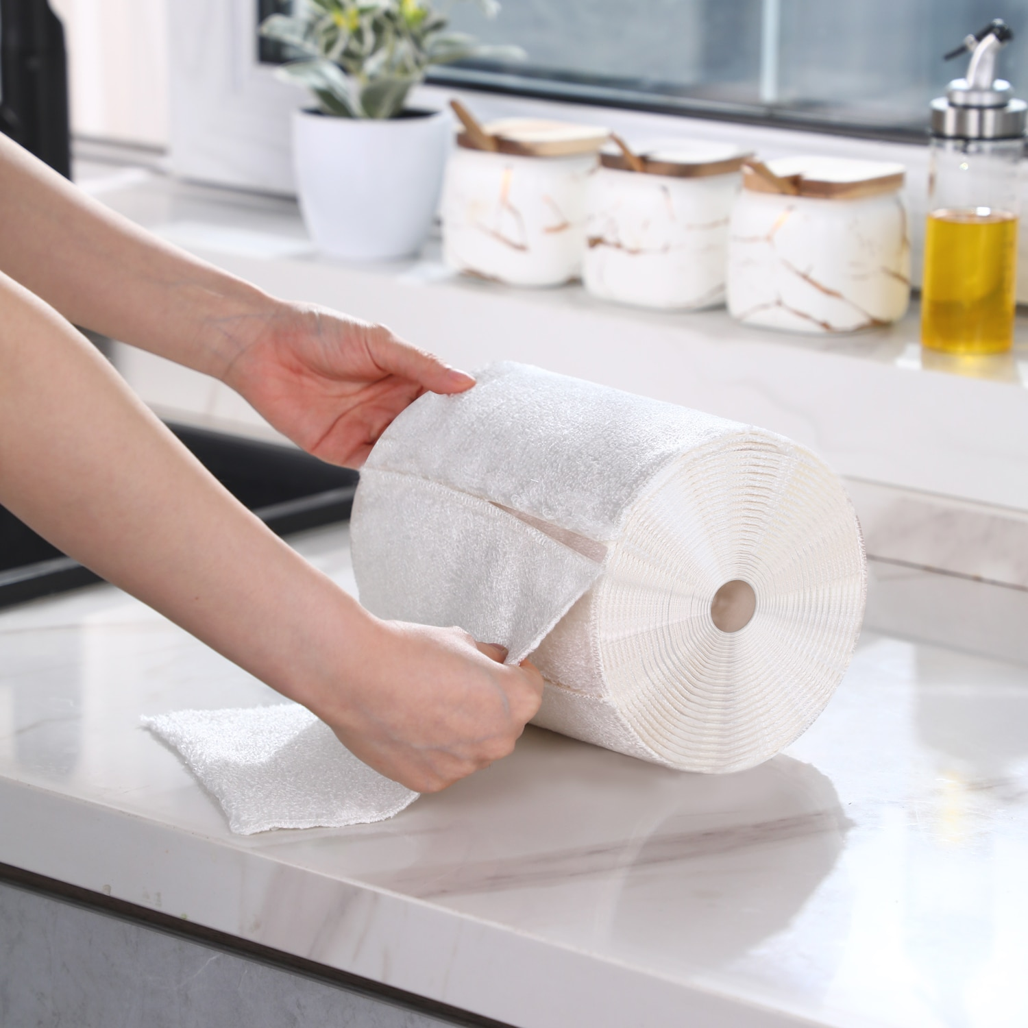 Microfiber Kitchen Cleaning Cloth Double-layer Absorbent Dish Cloth Non-stick Oil Kitchen Towel Kitc