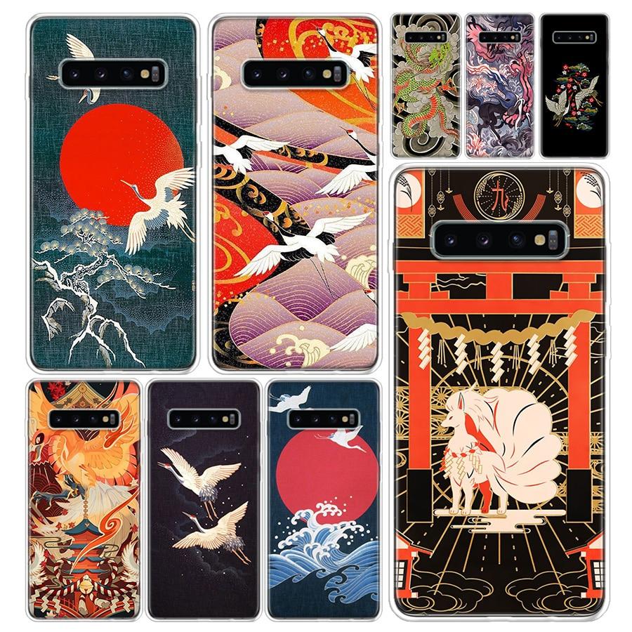 Funda de teléfono estilo japonés Art Japan para Samsung Galaxy S20 Ultra S10E Note 10 9 8 S9 S8 S7 S6 J4 J6 J8 Plus Lite + cubierta