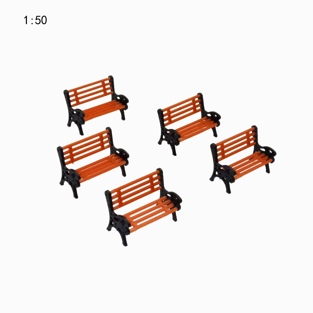 10PCS/LOT 150  HO Scale Park Garden Bench Model Landscape Scenery abs plastic model chairs