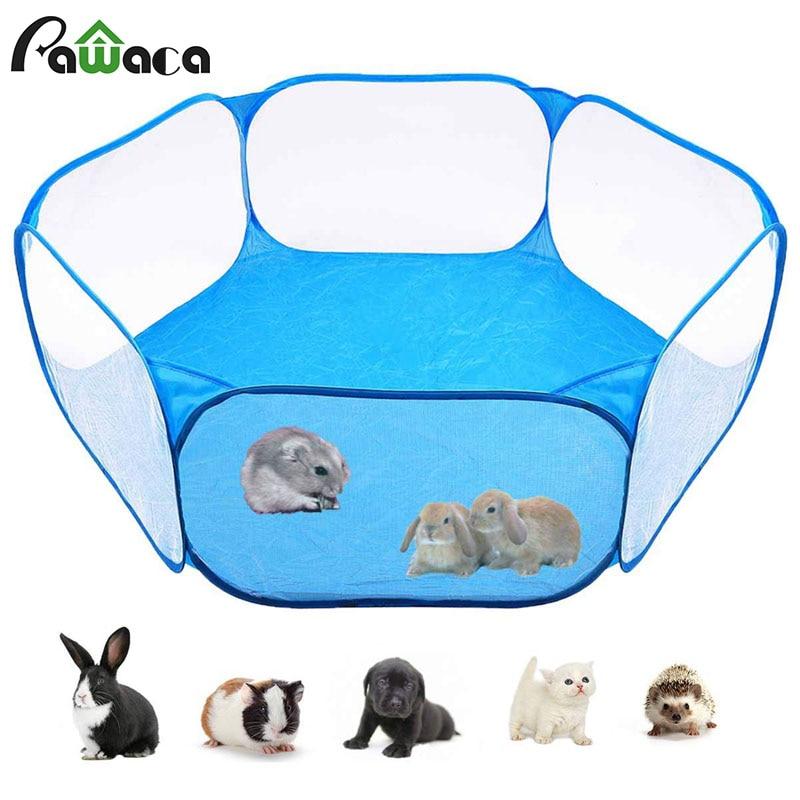 Corralito portátil Pop abierto para mascotas, jaula para animales pequeños para interior/exterior,...