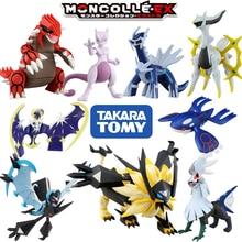 Takara tomica tomica moncolle bolso figura monstro fantoche pokemon figuras brinquedos do bebê preto kyurem gradon mewtwo diecast resina boneca