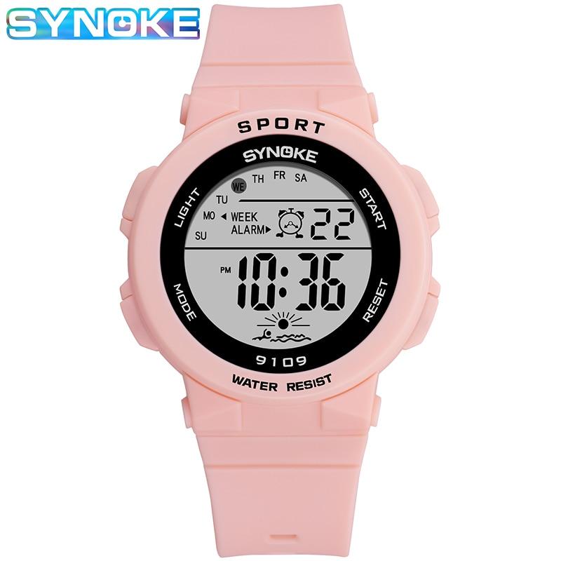 SYNOKE Children's Watch Boys Outdoor Sport Watches For Kids Girls LED Digital Wristwatch Waterproof Men Electronic Watch Women