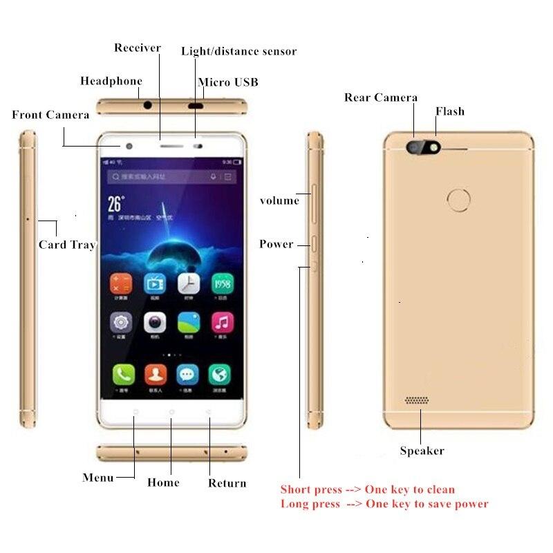 S07 4G LTE смартфон с двумя SIM-картами 2 ГБ + 16 ГБ Android 6,0 MTK6737 четырехъядерный 5-дюймовый емкостный экран 720x1280 пикселей