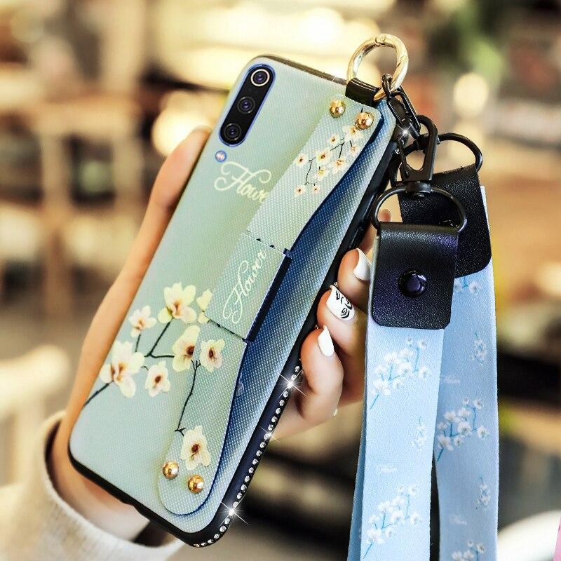 Para Xiaomi A1 A2 A2Lite A3 A3Lite jugar Max2 MAx3 8 8SE 9 9SE 9T 10 Lite Note10 Note10Pro CC9 CC9e funda con cordón de la correa de muñeca de la cubierta