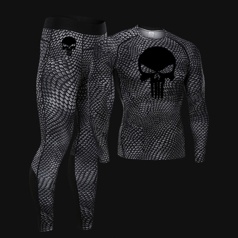 New Thermal underwear  Long johns Set winter rashgard male Compression T-shirt leggings 2 piece tracksuit Men Brand Clothing 4xl