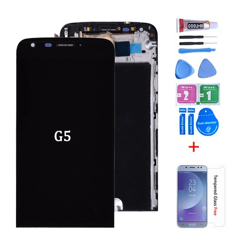 Original para LG G5 H860 H850 H840 RS988 LCD y montaje de digitalizador con pantalla táctil con marco