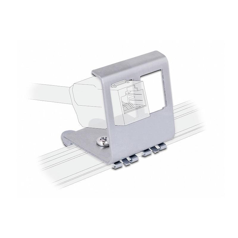 RJ45 2-Port DIN Rail Keystone Adapter For 35mm DIN-Rail Electrical Distribution Box Metal Mounting Keystone Jack Holder