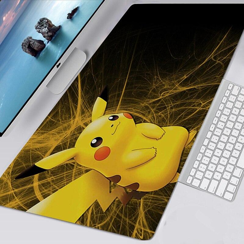 Симпатичный коврик для мыши Kawaii, игровые аксессуары, нескользящий коврик для мыши для геймеров XXL, Покемон, коврик для клавиатуры 90x30 коврик ...