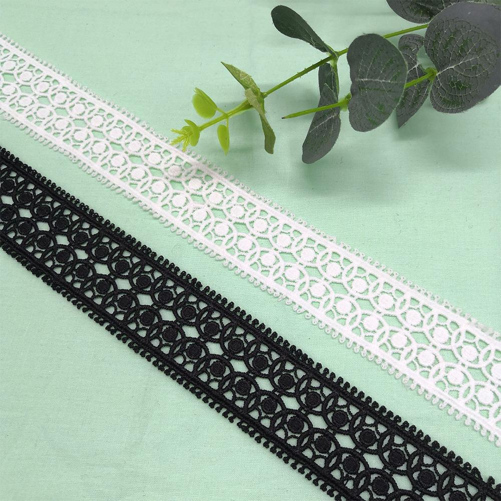 3.5CM skirt lace embroidery lace water-soluble computer embroidery accessories