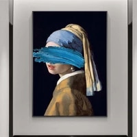the girl with a pearl earring canvas paintings reproductions famous artwork by jon pop art prints wall pictures for home decor