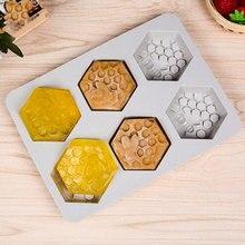 Silikon Form Bee Seife mold 6 hohlraum einfach zu Entformung Handgemachte Seife Handwerk Für DIY Seife Maker Liefert