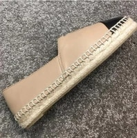 classical top quality luxury brand design goat leather woman espadrilles slip on loafers comfortable flat fisherman shoes