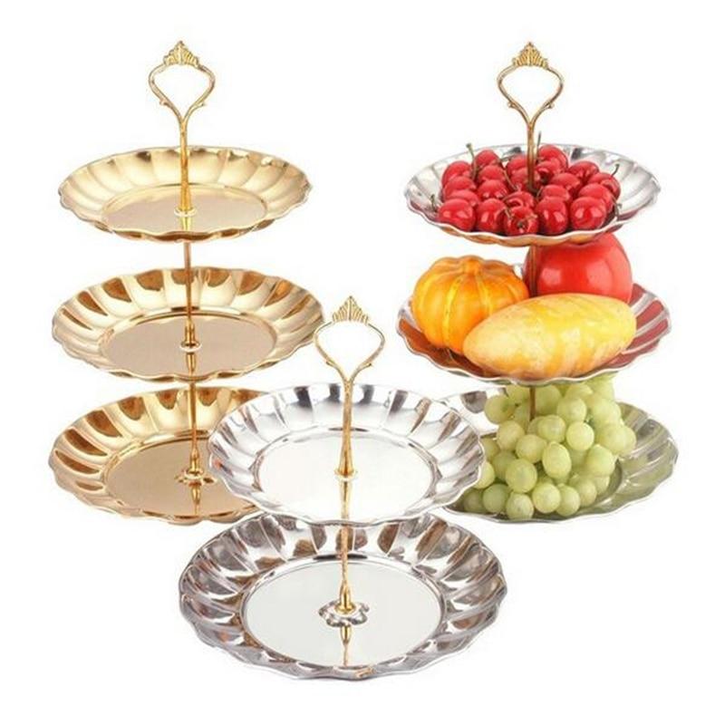 Горячая Распродажа, 2 - 3 уровня, подставка для торта, металлический буфет, десерт, фрукт для кекса, пищевая тарелка, сервировочный дисплей, де...