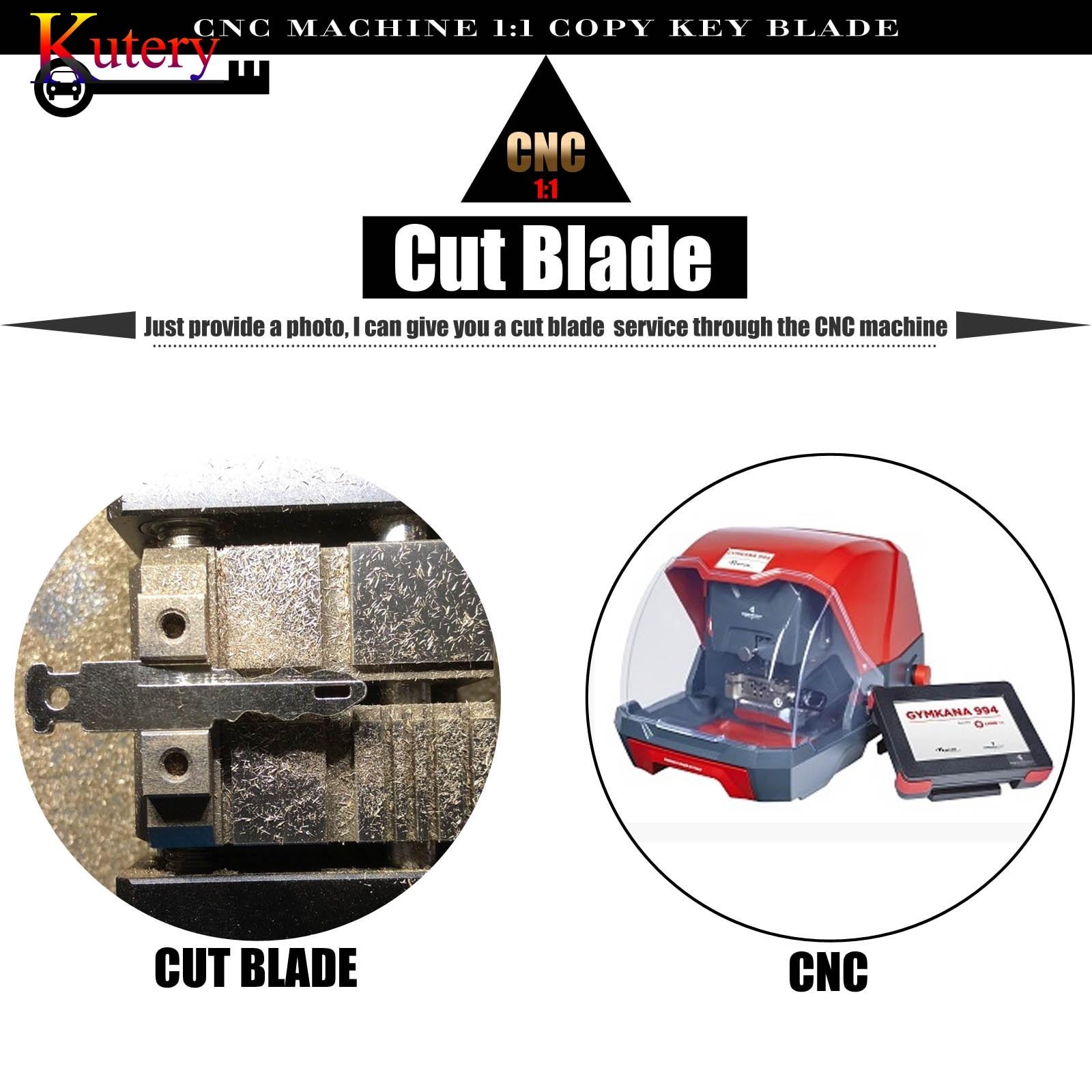 kutery CNC cut blade copy blade cut car key Service fee for vw Toyota Peugeot ford Audi Hyundai kia Honda chevrolet renault C