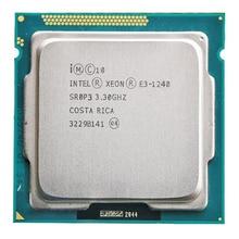Pour Intel Xeon E3-1240 CPU 3.3GHz 8 mo Quad-Core 80W LGA 1155 E3 1240 CPU