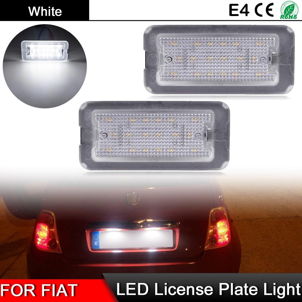 Abarth-luz blanca de alto brillo para Fiat 500, lámpara de placa de...