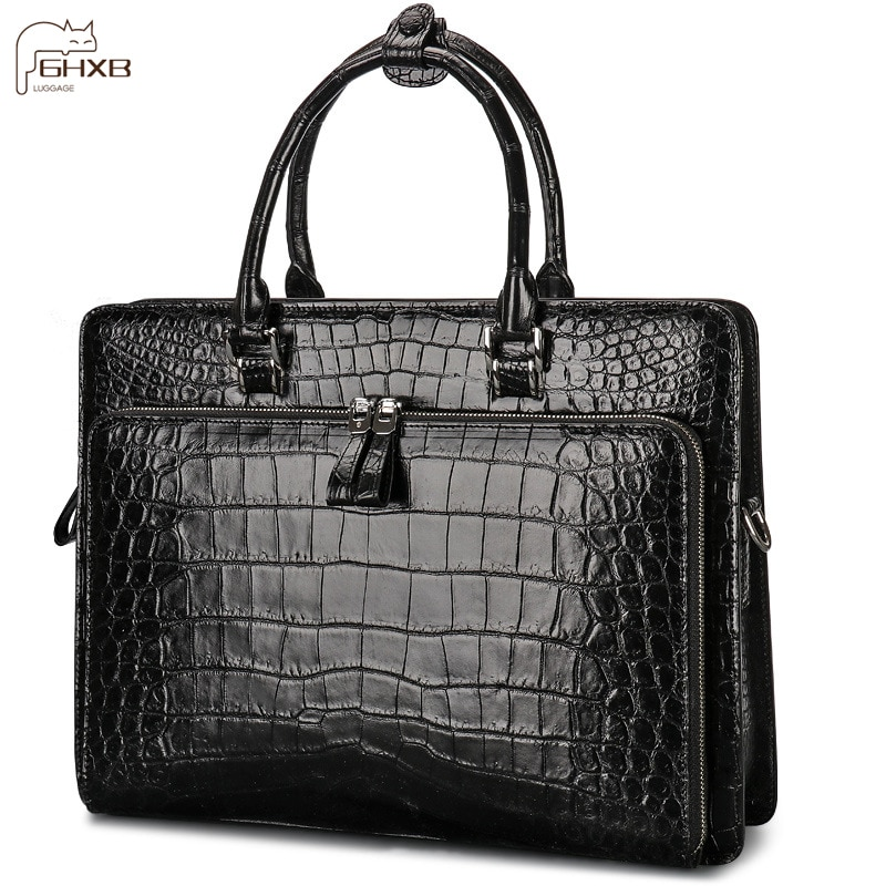 Fashion And Luxury Highlight The Temperament  Brand-name Briefcase  Laptop Bag Business Men's Leather Handbag
