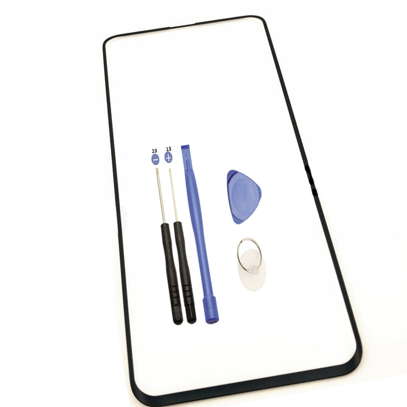 OP011 100% nuevo para Oppo Find X teléfono móvil de pantalla táctil de recambio de lentes de vidrio frontal lcd exterior lente táctil Panel de cubierta partes