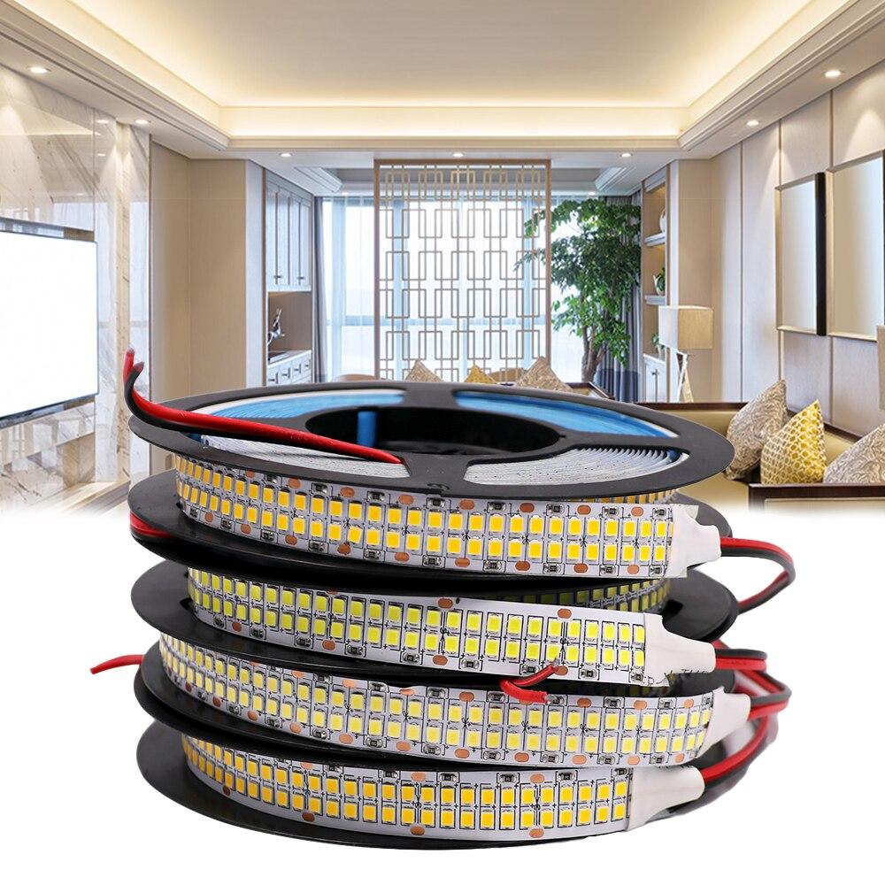 СВЕТОДИОДНАЯ лента SMD 2835, 12 В, 24 В постоянного тока, 5 м, Белая светодиодная лента, водонепроницаемая светодиодная лента с теплым белым светом,...