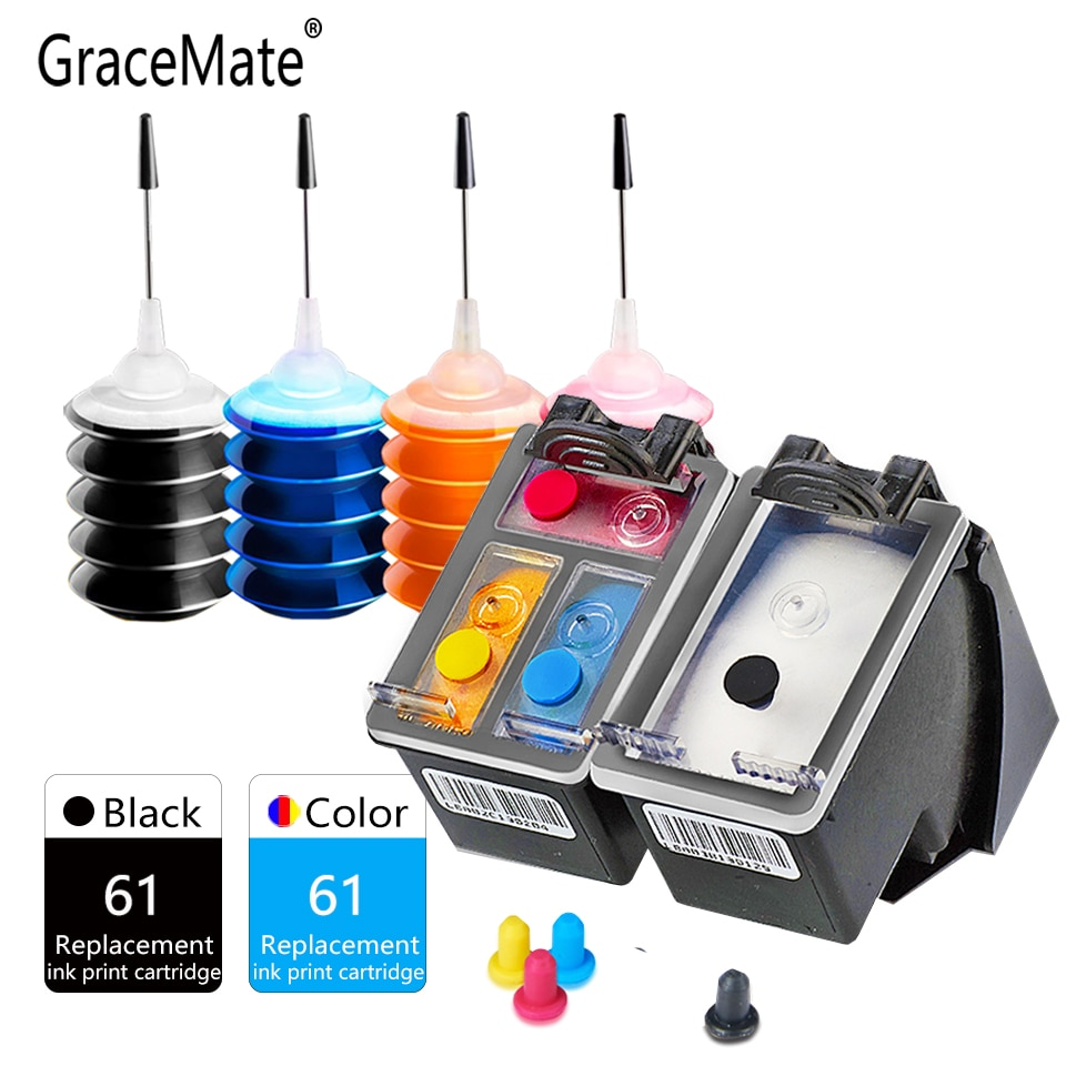 GraceMate cartucho de tinta Compatible para Hp 61 envidia 4500, 4501, 4502, 4503, 4504, 4505, 4507, 4508, 4509, 5530, 5531, 5532, 5534 impresora