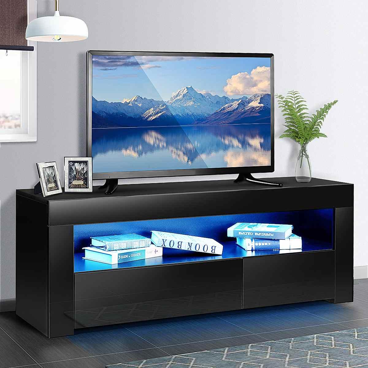 47 بوصة الحديثة RGB LED التلفزيون تقف مع درج خزانة التخزين المنظم وحدة تليفزيون قوس أثاث غرفة المعيشة شاشة التلفاز حامل