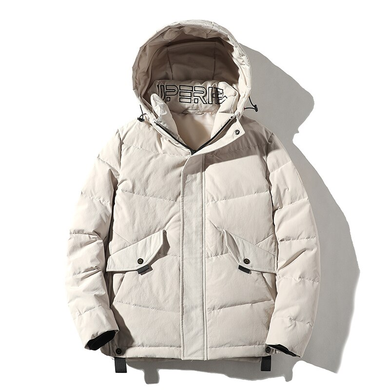 Фото - Covrlge Down Jacket Trendy Hooded Men's White Duck Down Jacket Stand Collar Embroidered Men Winter Warm Causal Coat US MWY034 covrlge trendy hooded men s white duck down jacket stand collar embroidered down jacket men winter warm causal coat us mwy034